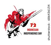 indonesian independence day... | Shutterstock .eps vector #686436154