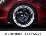 car wheel on a car close up.... | Shutterstock . vector #686442319