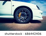 speed   detail sports car with... | Shutterstock . vector #686442406