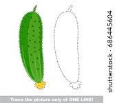 cucumber to be traced only of... | Shutterstock .eps vector #686445604