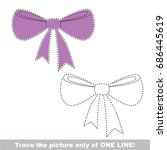 violet bow to be traced only of ... | Shutterstock .eps vector #686445619