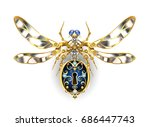 steampunk mechanical insect... | Shutterstock .eps vector #686447743