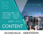 presentation layout design... | Shutterstock .eps vector #686450044