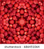 Kaleidoscopic Tiled Pattern Of...