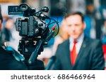 media interview on fair | Shutterstock . vector #686466964
