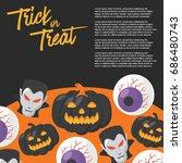 halloween day   vector... | Shutterstock .eps vector #686480743