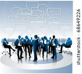 business people team with... | Shutterstock .eps vector #68649226