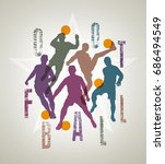 detailed vector silhouettes of... | Shutterstock .eps vector #686494549