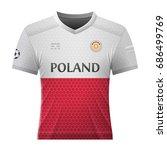 soccer shirt in colors of...   Shutterstock .eps vector #686499769