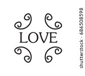 illustration with the words... | Shutterstock . vector #686508598