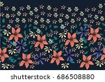 Graceful Flowers With Leaves O...