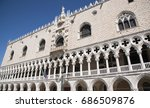 architectural details facade of ... | Shutterstock . vector #686509876