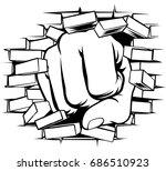 a pop art comic book cartoon...   Shutterstock .eps vector #686510923