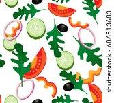 vector illustration. vegetable... | Shutterstock .eps vector #686513683