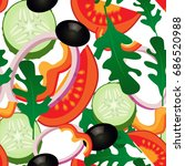 vector illustration. vegetable... | Shutterstock .eps vector #686520988