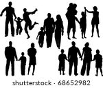 """vector of silhouettes of... 