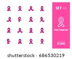 outline color icons set in thin ... | Shutterstock .eps vector #686530219