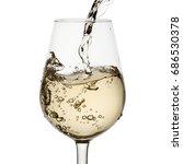 beautiful splash of wine in a... | Shutterstock . vector #686530378