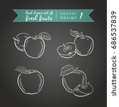 apple. vector hand drawn... | Shutterstock .eps vector #686537839