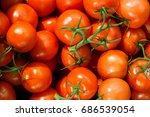tomatoes on the market | Shutterstock . vector #686539054