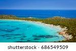 capo coda cavallo beach  tail... | Shutterstock . vector #686549509