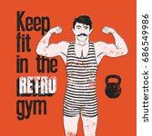 Retro Gym Typographic Vintage...