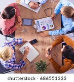 business people sitting and... | Shutterstock . vector #686551333