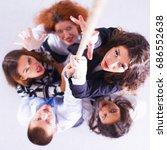 image of businesspeople ... | Shutterstock . vector #686552638