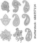 set of paisley | Shutterstock .eps vector #686557114