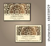 ornamental floral business... | Shutterstock .eps vector #686558929