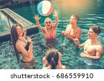 group of friends together in... | Shutterstock . vector #686559910