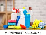 concept for home cleaning... | Shutterstock . vector #686560258