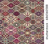 colorful vintage seamless... | Shutterstock .eps vector #686560588