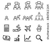 people icons work group team... | Shutterstock .eps vector #686561164