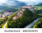 beautiful slovakia castle at... | Shutterstock . vector #686563654