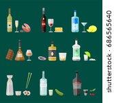 alcohol drinks beverages... | Shutterstock .eps vector #686565640