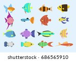 exotic tropical fish race... | Shutterstock .eps vector #686565910