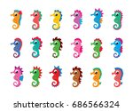 Seahorse Vector Collection