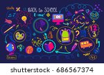 colored education supplies and... | Shutterstock . vector #686567374