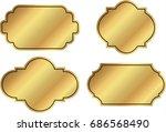 vector golden frame labels | Shutterstock .eps vector #686568490