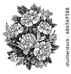 floral highly detailed hand...   Shutterstock .eps vector #686569588