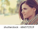 closeup of a beautiful happy...   Shutterstock . vector #686572519