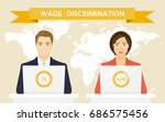 gender inequality in wages.... | Shutterstock .eps vector #686575456