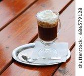 austrian coffee with cream on... | Shutterstock . vector #686579128