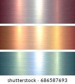 metal  texture backgrounds ... | Shutterstock .eps vector #686587693