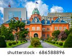 sapporo  japan at the historic... | Shutterstock . vector #686588896