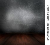 3d render of a grunge interior... | Shutterstock . vector #686591014