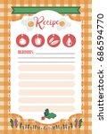 vector template of recipe card