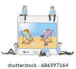 illustrations of a photo with a ... | Shutterstock .eps vector #686597164