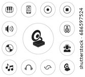set of 12 editable mp3 icons....